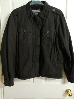Columbia Winter Jacket Men's Size 2XL Black Charcoal INSULAT