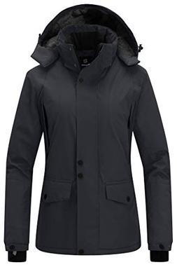 Wantdo Women's Winter Ski Jacket Mountain Waterproof Raincoa