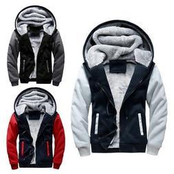 Winter Warm Men's Jacket Fleece Thick Hooded Padded Coat Par