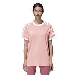 adidas Originals Women's 3 Stripes T-Shirt, Tactile Rose, XS