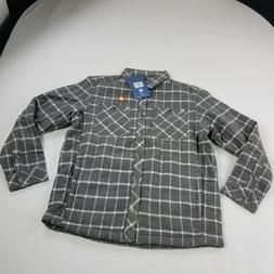 White Sierra Wooly Bully Plaid Insualted Shirt Jacket Mens