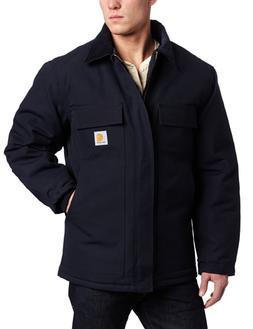 Carhartt Work Coat ens Duck Trad Arctic Quilt Lined Dk Navy