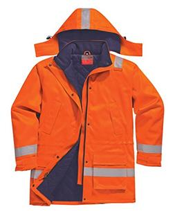 Portwest Workwear Mens FR Winter Jacket Orange XL