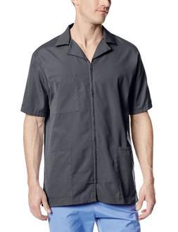 Cherokee Workwear Scrubs Men's Zip Front Jacket, Pewter, X-L