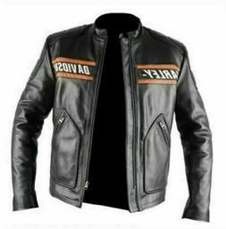 WWE Goldberg Bill Classic Men's Harley Davidson Black Leathe
