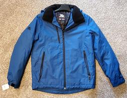 ZeroXposur Mens Blue Hooded Midweight Jacket / Coat - Size M