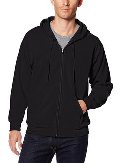 Hanes Men's ComfortBlend Full-Zip Hood 7.8 oz., S-Black