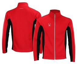 Spyder Mens Full Zip Sweater Racing Red L