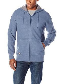Dickies Men's Full Zip Thermal Hoodie with Sherpa Lining, Da